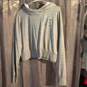 Victoria's Secret Grey cropped hoodie